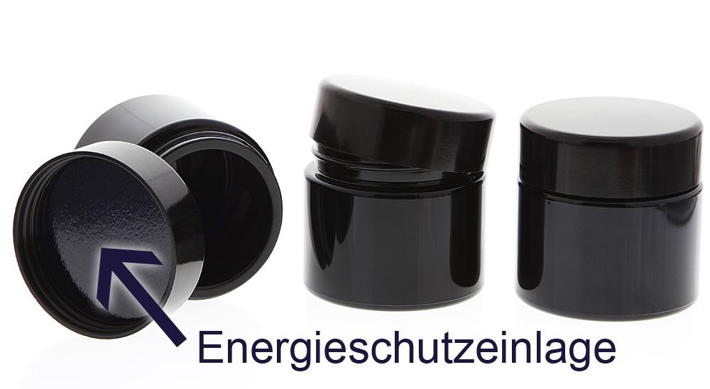 Violett-Glas Tiegel 100 ml Energieschutz Deckel, Leere Kosmetex Miron-Glas Creme-Dose, Kosmetik-Dose