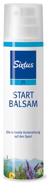 Sixtus fit Start Balsam wärmt die Muskulatur für die Aufwärmphase, 100 ml