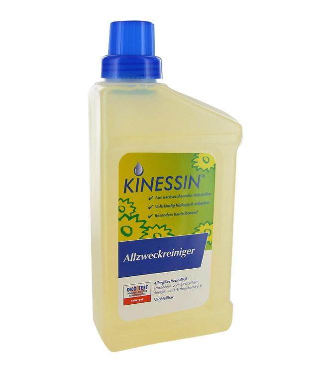 KINESSIN Allzweckreiniger, Haushaltreiniger, allergikerfreundlich, für alle abwischbaren Flächen. 1 Liter
