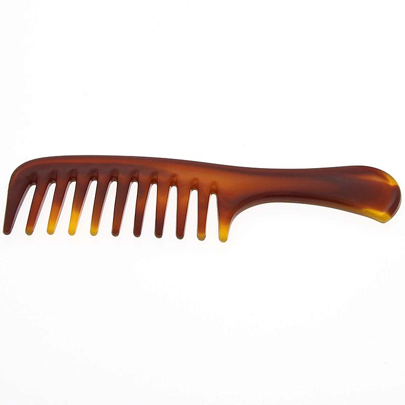 Afro kamm für voluminöses Haar, Kosmetex 14 cm Afro Haar Styler für dichtes, lockiges und langes Haar. Braun