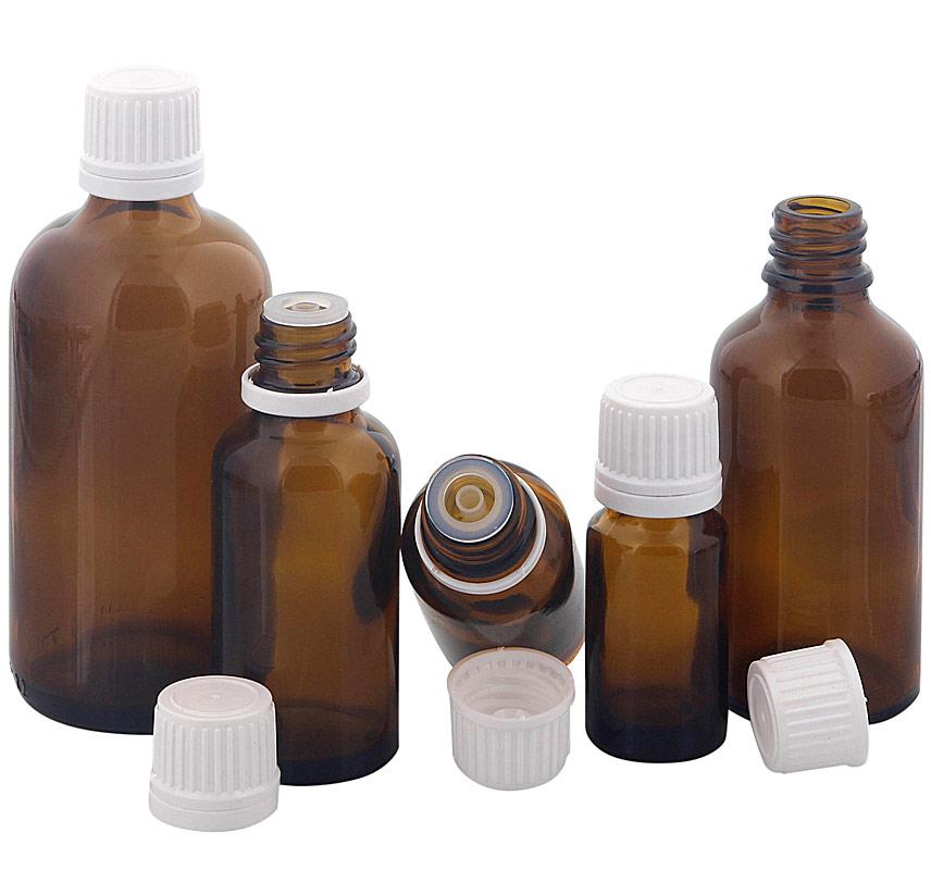 Kosmetex Braunglas Flasche für Tropfen, mit Tropfer DIN 18 Gewinde, Tropfflasche