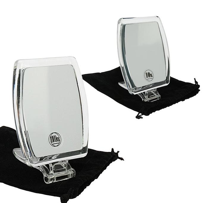 Kosmetik-Spiegel, Reisespiegel mit 10-fach Vergrößerung, Handspiegel zum Stellen Groß