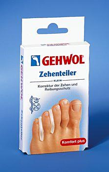 GEHWOL Zehenteiler, Reibungsschutz für engstehende Zehen aus Gel Klein