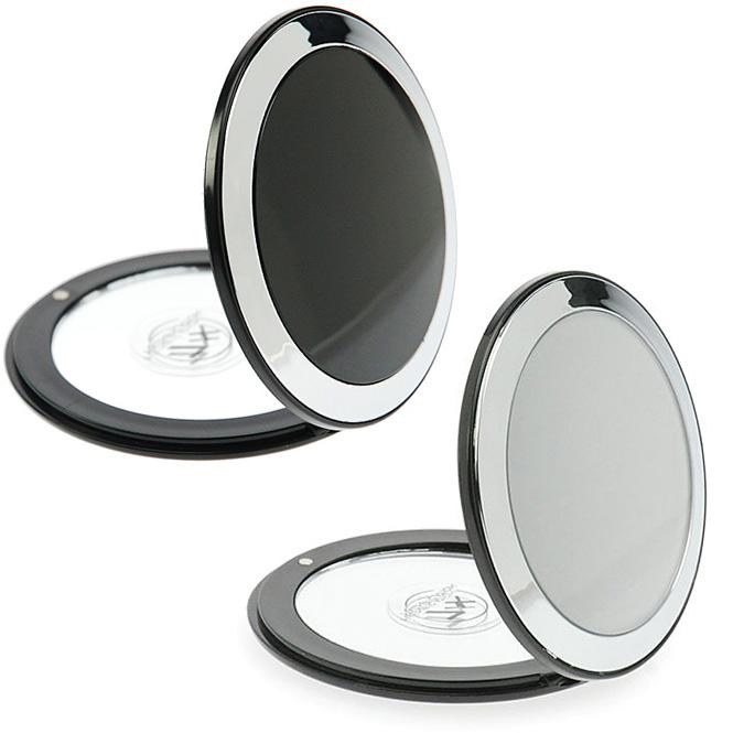 Taschen-Spiegel, mit 7-fach Vergrößerung und Magnetverschluss, Ø 8.5 cm