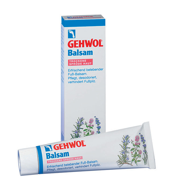 GEHWOL Balsam, trockene spröde Haut Fußcreme, mit Fußpilzschutz, 125 ml