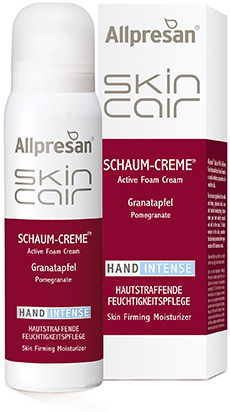 Allpresan SkinCair Granatapfel HAND Intense Schaum-Creme Hautstraffende Feuchtigkeitspflege für die Hände,