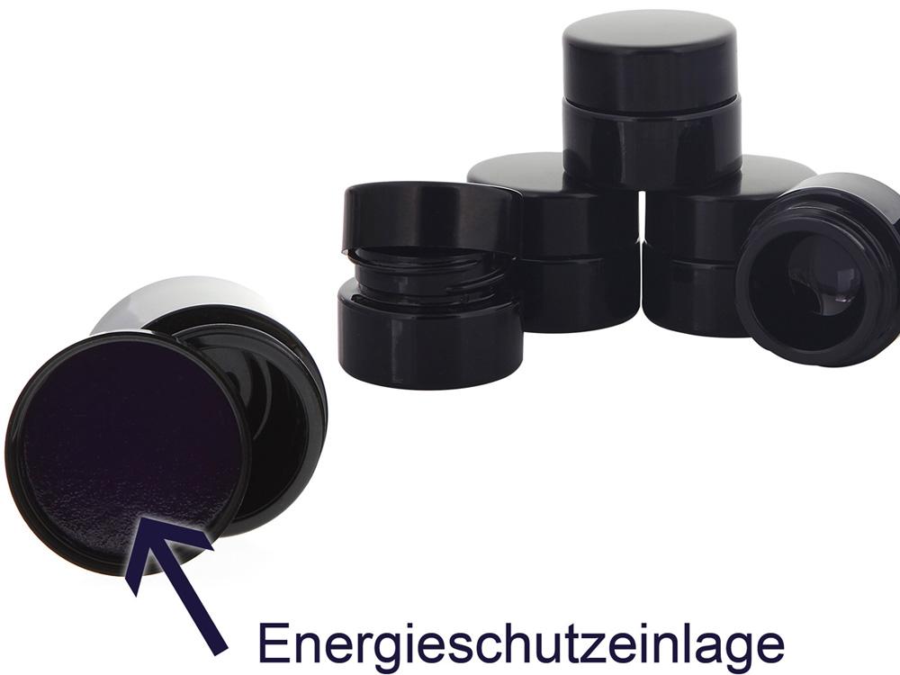 Violett Mironglas-Tiegel 5 ml Energieschutz Deckel Kosmetex Kosmetik-Tiegel, Salbentiegel, Miron Cremedose 5 Stück