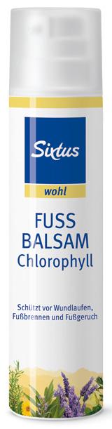 Sixtus wohl Fussbalsam Chlorophyll Balsam für stark beanspruchte Füße, 100ml