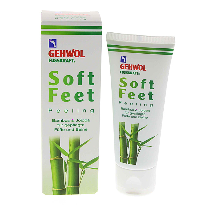 GEHWOL Fusskraft Soft Feet Peeling Fußpeeling mit Bambus, Jojoba 40 ml