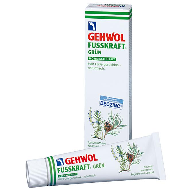 GEHWOL Fusskraft Grün, Normale Haut, Fussdeo Creme, Fußcreme 125ml