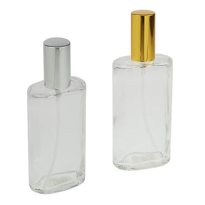 Ovaler Zerstäuber, Kosmetex Glas Flakon für Parfüm, Gesichtswasser, leer mit Zerstäuber, 100ml
