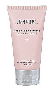 Baehr Rosen Handcreme mit Rosenblütenextrakt und Urea, Schutz,und Pflege, 75 ml