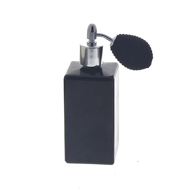 Schwarzer Glas-Flakon für Parfüm, 100ml Kosmetex, Parfüm-Zerstäuber, leer Ball Schwarz-Silber