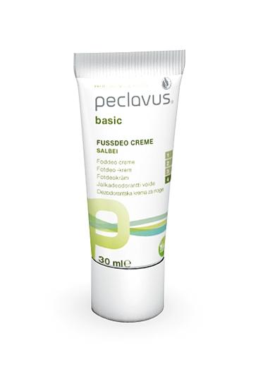 Peclavus Basic Fußdeo Creme, Fußcreme gegen Fußgeruch, mit Salbei