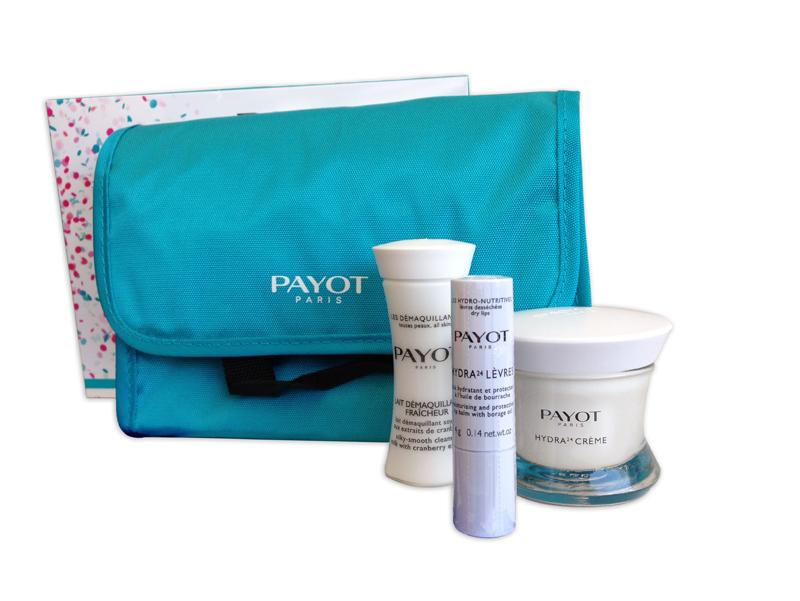 Payot Trio Hydratation Parfaite Perfect 4-teiliges Reise-Set, Hydra24 Creme,Hydra24 Lippenpflege,Reinigungsmilch