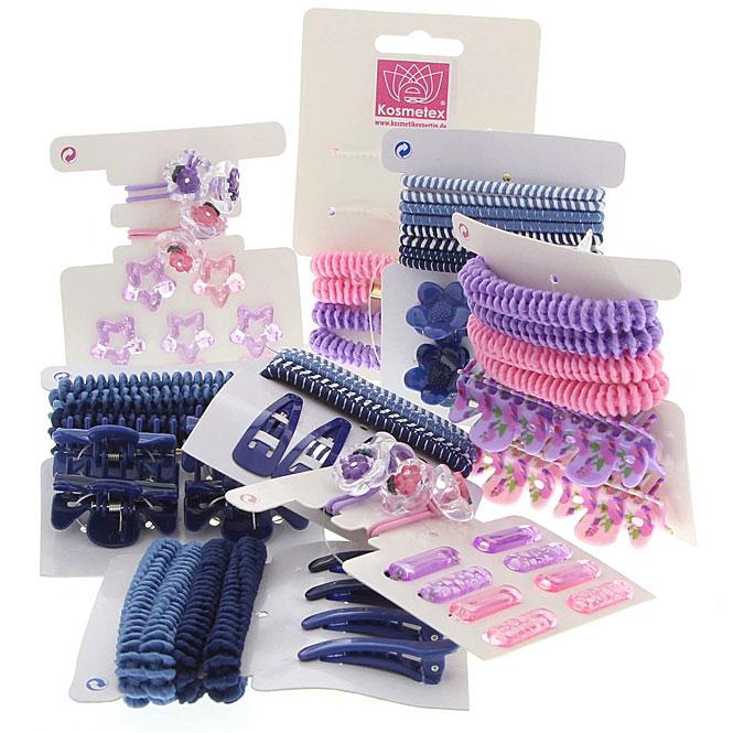 Haarschmuck Sets, Haargummis, Haarklammern und Clipse, Lila, Violett, Rosa