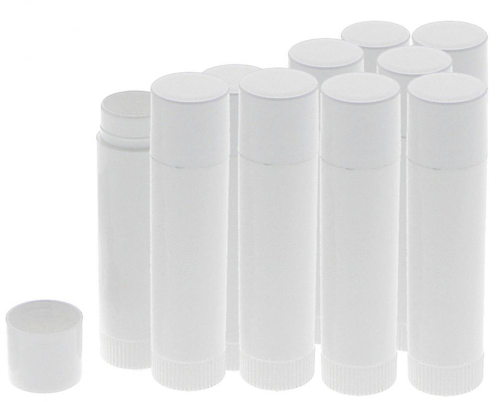 Lippenpflegestifte zum Selbstbefüllen, Lippenstifthülsen Kosmetex Lippenstift Hülse leer 10 Stück