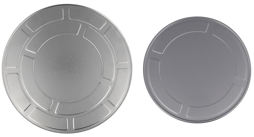 Filmdose 18 oder 27 cm aus Aluminium Kosmetex Filmrollen-Dose im Hollywood Style