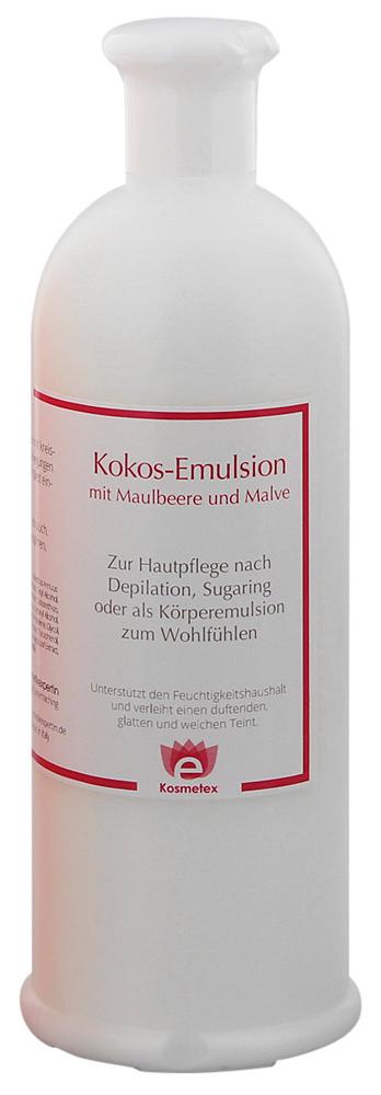 Kosmetex Kokos After-Wax Lotion mit Maulbeere und Malve, besonders nach Wachsen, Waxing, Zuckern, 500ml