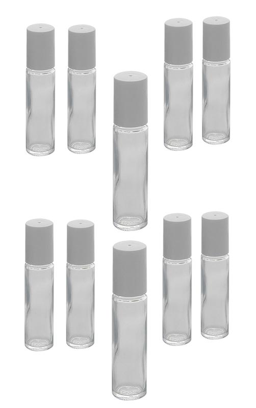 Glas Deostick zu 10ml, Kosmetex Deo-Roller zum selbst Befüllen 10× 10ml