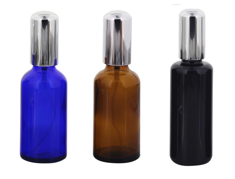 Glas Zerstäuberflasche, Sprühflakon, m. Pumpzerstäuber Kosmetex Parfümflakon, leer