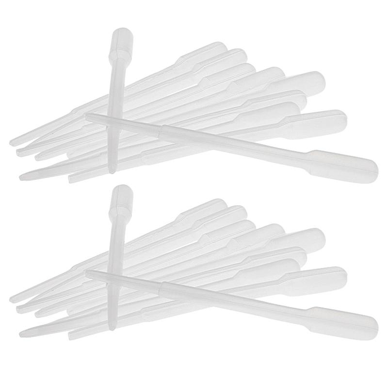 Kosmetex 20x Einweg-Pipetten, Pasteurpipetten, 2,4ml Pipette für Laborbereich, Küche, Seidenmalerei, Basteln 20 Stück