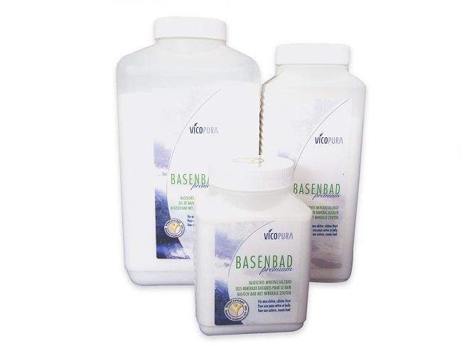 VICOPURA Basenbad Premium, mineralisches Basensalz, basisches Badesalz