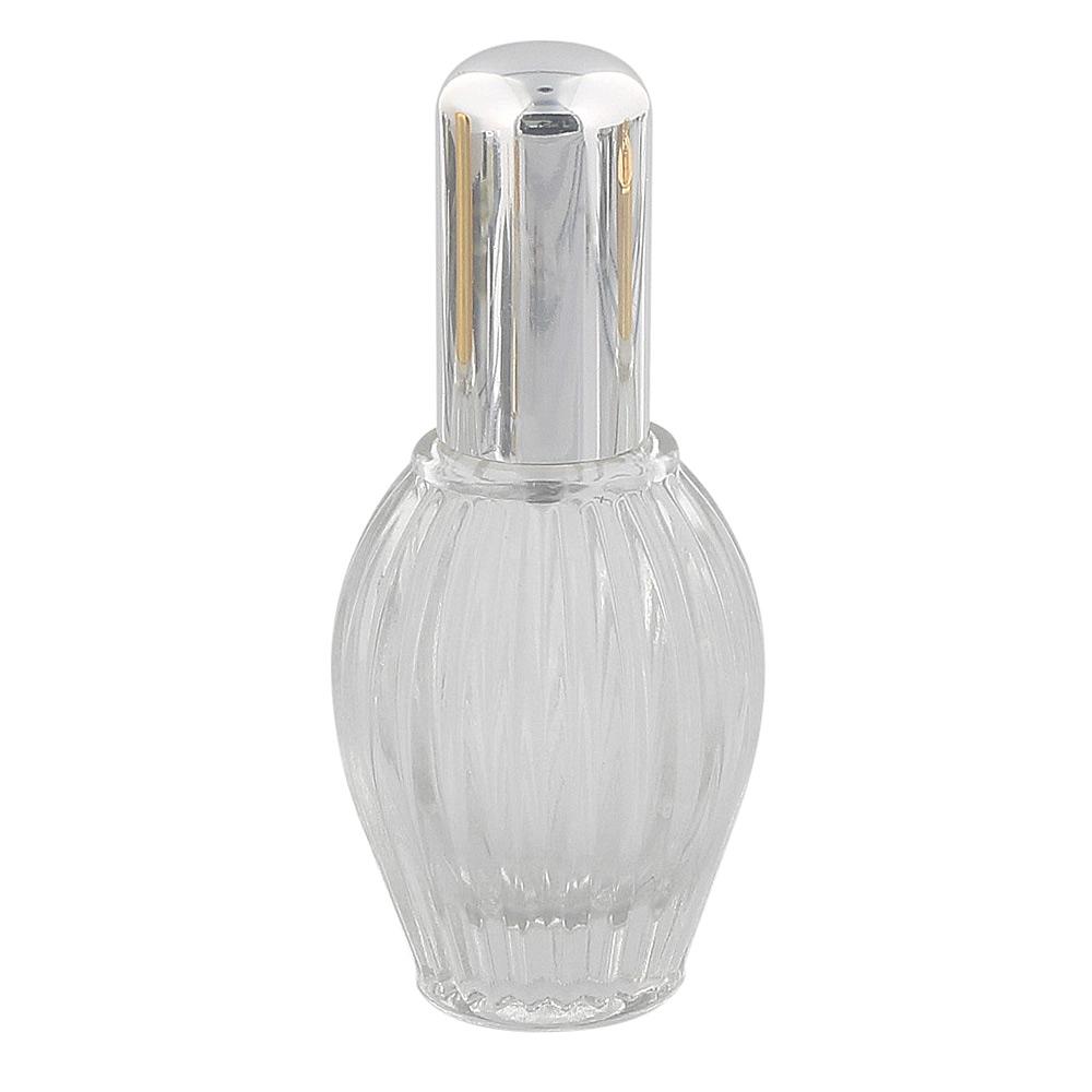 Tisch-Zerstäuber für Parfüm, Glas-Flacon, Kosmetex Pumpzerstäuber, silbern 35 ml silber