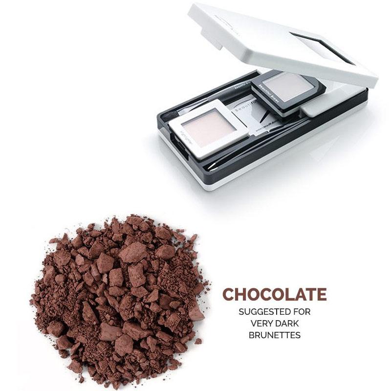 7-teiliges Brow KIT Chocolate Beautiful Brows einzigartiges, hochkonzentriertes, mineralhaltiges Puder