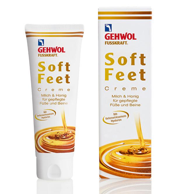 GEHWOL Fusskraft Soft Feet, Fußcreme mit Hyaluron, Urea