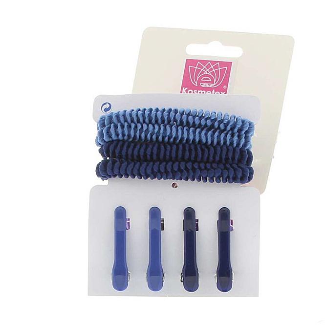 Haarschmuck Sets in maritimen Farben Haargummis, Haarklammern und Clipse Set 4