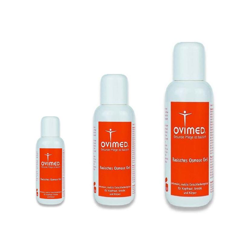 Ovimed Basisches Osmose Gel, Intensive, mobile Entschlackungskur für Kopfhaut, Gesicht und Körper