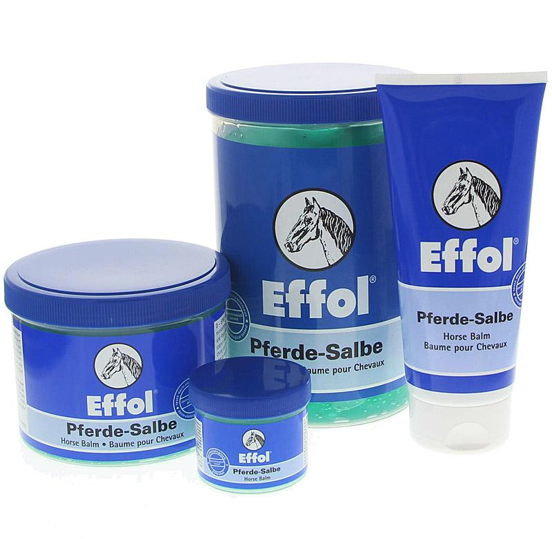 Effol Pferde-Salbe mit Zwei-Phasen-Effekt kühlt und wärmt, entpsannt und vitalisiert nach Sport und Arbeit.