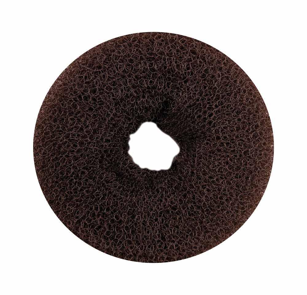 """Haargummi, Donut-Form, Krapfenform, """"Dutt"""" Haarring aus Frottee, ohne Metall 1× braun"""