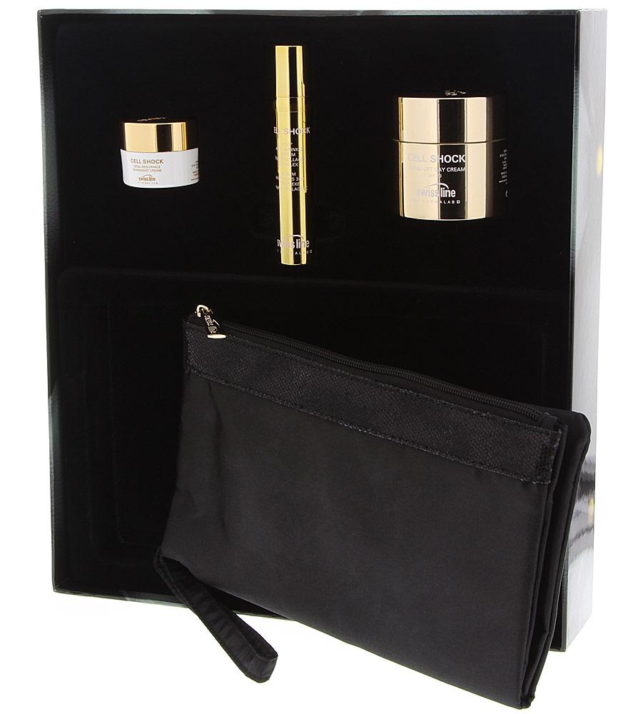 Swiss line Cell Shock Black&Gold Kit sichtbarer Erfolg 3 teilig reduziert Falten,strafft die Haut,gegen Augenschatten