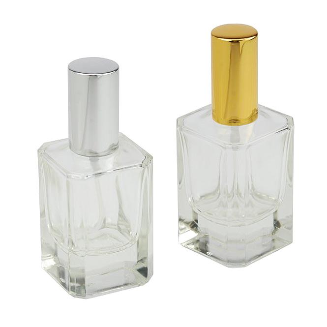 Kubischer Zerstäuber, Kosmetex Flakon für Parfüm quadratisch, Gesichtswasser, leer mit Zerstäuber