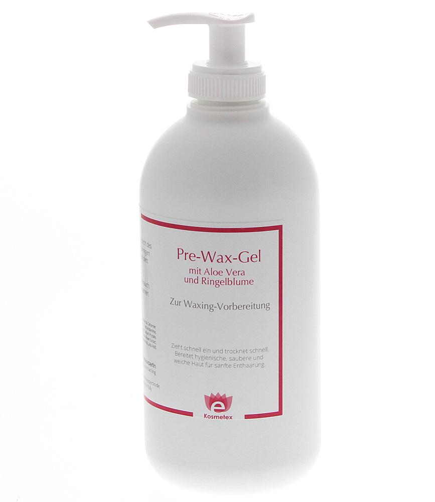 Kosmetex Pre Wax Gel Aloe Vera, Hautreiniger Vorbereitung f. Waxing Wachsen Ringelblume, reduziert das Schmerzempfinden, 500ml