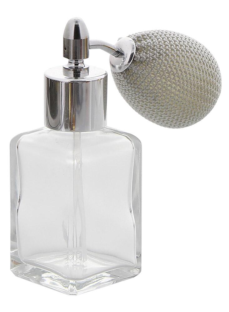 Glas-Flakon, Parfüm-Zerstäuber m. Silber Ballpumpe 30 ml Kosmetex Pump-Zerstäuber f. Colognes, leer Silber