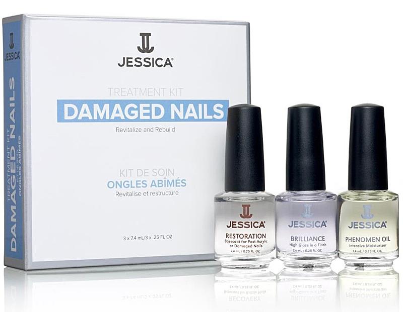 Jessica Damaged Nails Kit, Nagelset für kaputte Fingernägel nach Kunstnägeln