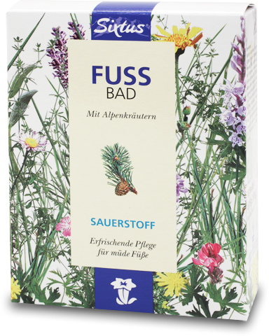 Sixtus Sauerstoff-Fußbad mit Alpenkräutern erfrischende Pflege für müde Füße 10 Beutel a 15 g