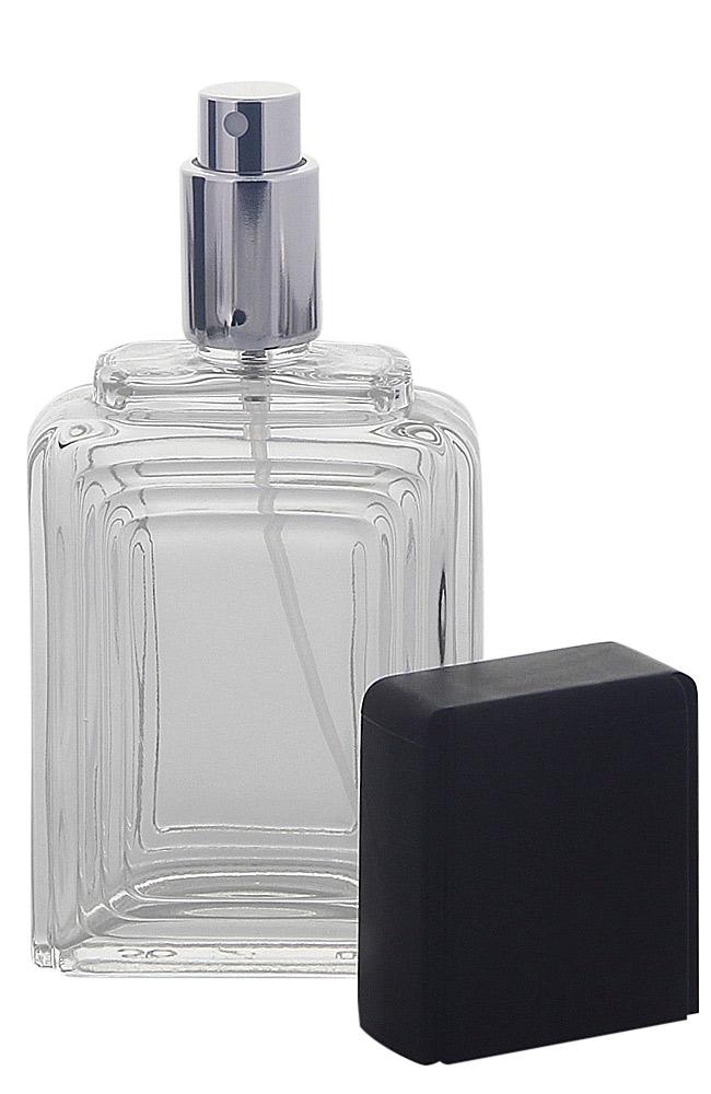 Zerstäuber für Parfüm, Glas Flacon Raute Kosmetex Pumpzerstäuber für Parfüm 100ml Schwarz