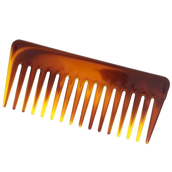 Afro Kamm, 14cm, grobe Zinken für voluminöses Haar. Locken- Nasshaarkamm 1 Stück