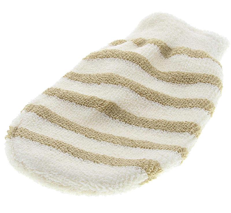 Reinigungshandschuh für sanftes Reinigen und Peeling Massage, Peelinghandschuh, Baumwolle und Leinen