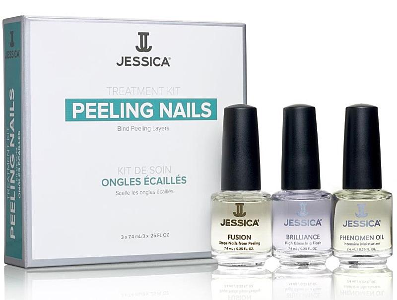 Jessica Peeling Nail Kit ist ein Nagelset für abblätternde Nägel, 3 teilig, 3x 7,4ml
