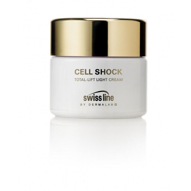 Swiss line Cell ShockTotal-Lift Light Creme, 50ml mischhaut bis fettige Haut schützt gegen Hautalterung