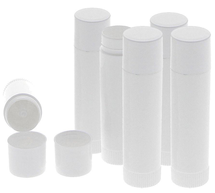 Lippenstifthülsen Lippenpflegestifte zum Selbstbefüllen, Kosmetex Lippenstift Hülse leer 6 Stück