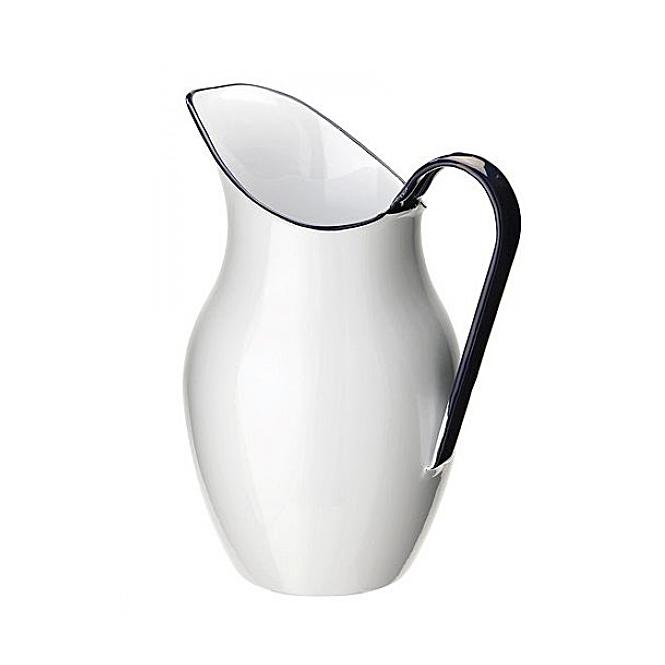 Klassische Wasser-Kanne, Kosmetex Wasser-Krug aus Stahlblech Emaille glasur perfekte Ergänzung für Fußbadeschüssel.