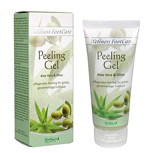 Peeling Gel Aloe, Olive, Camillen 60, Wellness Foot Care mit Aloe Vera und Olivenöl, 30 ml