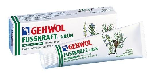 GEHWOL Fusskraft Grün, Normale Haut, Fussdeo Creme, Fußcreme 75 ml