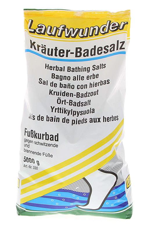 Laufwunder Kräuter-Badesalz, Fußbad bei überanstrengten und verhornten Füßen 5000 g